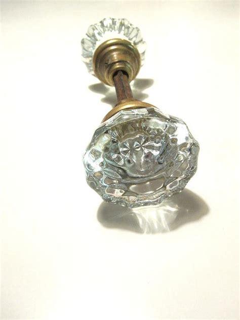 vintage glass door knobs by vintagemementos on etsy