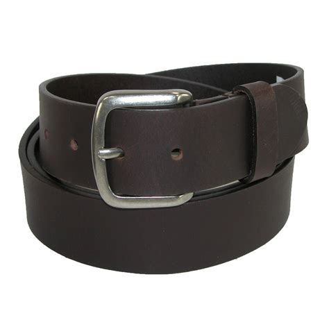 mens leather 40mm cut edge bridle belt by dickies casual