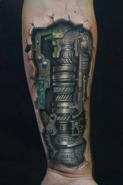 biomechanical tattoo gears 1000 images about leg tattoo on pinterest biomechanical
