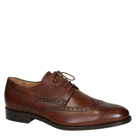 Handmade Leather Brogues - handmade s wingtip brogues in brown calf leather