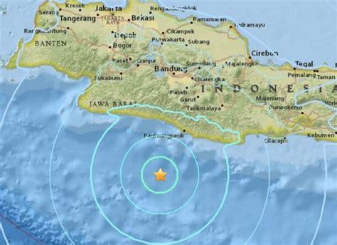 Earthquake In Bandung   strong earthquake hits indian ocean south of bandung