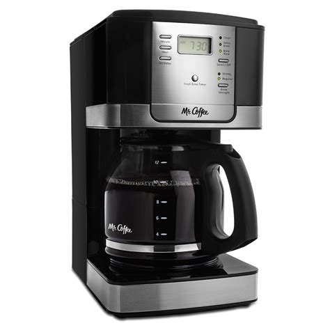Mr. Coffee® Advanced Brew 12 Cup Programmable Coffee Maker, Black/Stainless Steel Accents, JWX27