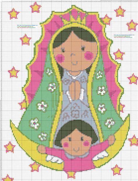 imagenes de virgen de guadalupe en punto cruz dibujos punto de cruz gratis religiosos
