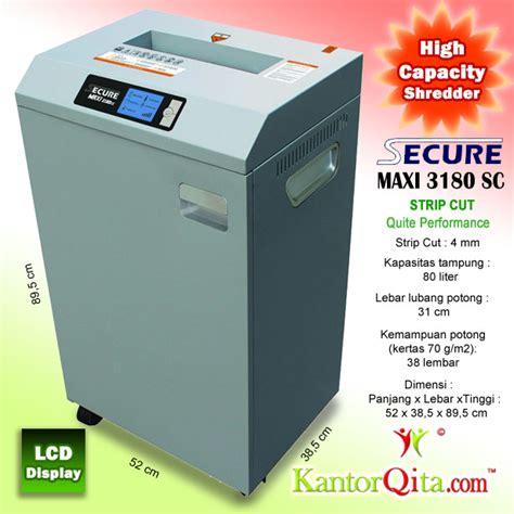 Mesin Penghancur Kertas Secure mesin penghancur kertas paper shredder secure maxi 3180 sc