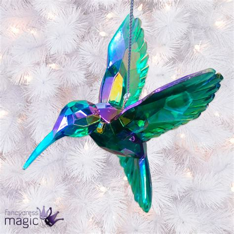 Rainbow Hanging Decoration gisela graham peacock rainbow hummingbird tree