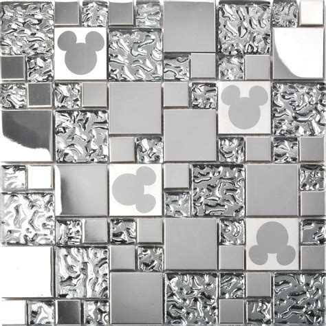 Mickey Mouse Kitchen Tiles Tst Stainless Steel Mickey Mouse Tiles Mirrored Glass