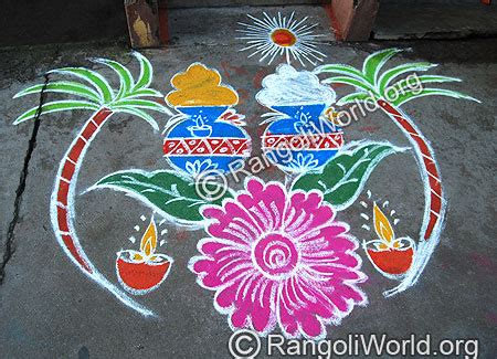 rangoli themes for pongal pongal rangoli 2014 collection 3