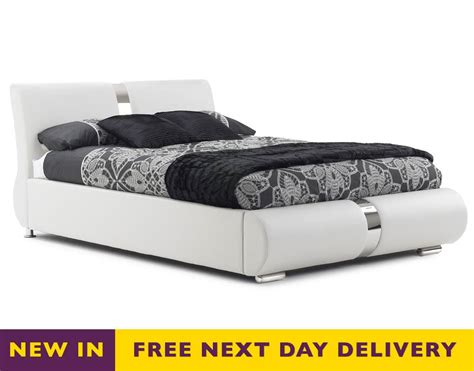 white leather king size bed frank bosworth milan 5ft king size white faux leather bed sale frank bosworth milan