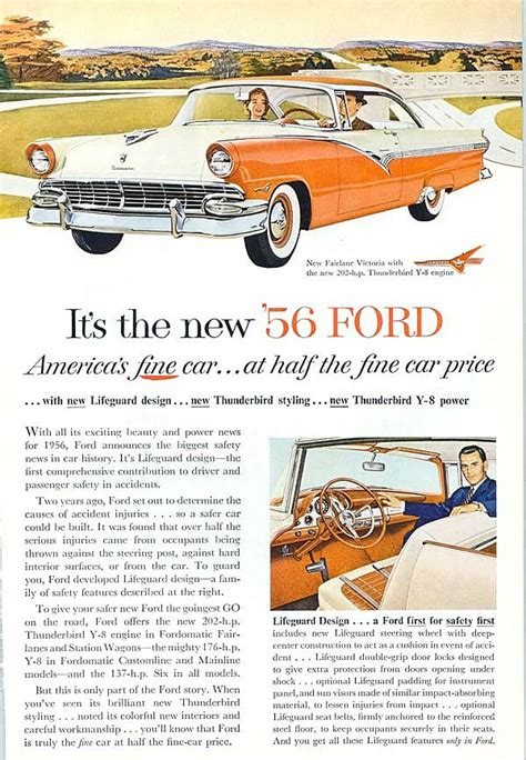 Ford Ads And Period Pictures 56ford06 Or Jpg The Old