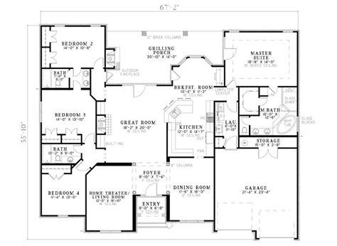Traditional Floor Plans with Fromberg Traditional Home Plan 055d 0748 House Plans And More