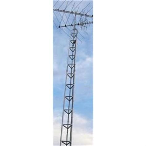 american tower ft bracketed flat base antenna tower amerftow  solid signal