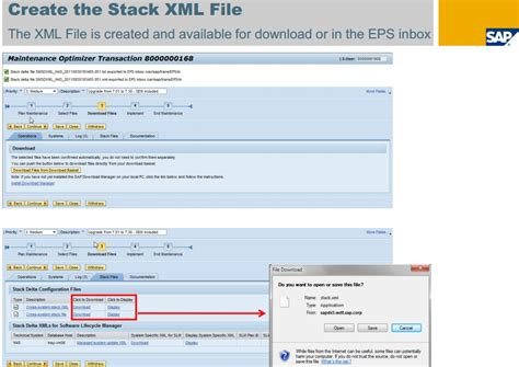 tutorial build xml how to create stack xml file screens step by step sap