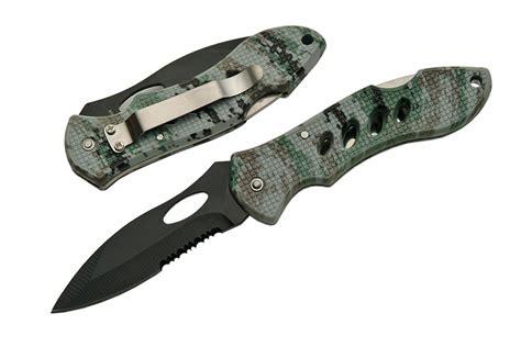 serrated pocket knife folding pocket knife digital camo black blade tactical lockback serrated 211217