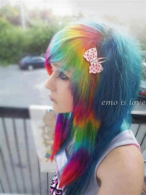 cute hairstyles rainbow 75 best images about scene girls on pinterest scene hair