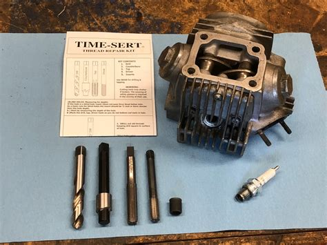 Repairing Damaged Ct90 Spark Plug Threads Using A Time