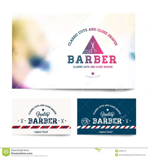 free barber business card template barber shop business card template stock vector image