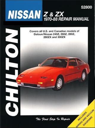 manual repair free 1990 nissan datsun nissan z car auto manual datsun nissan z zx repair manual 1970 1988 chilton