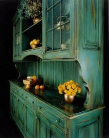 distressed blue green hutch great for a country kitchen i