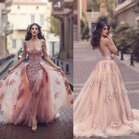 Arabic Pink saudi arabic blush pink mermaid evening dresses 2017 top