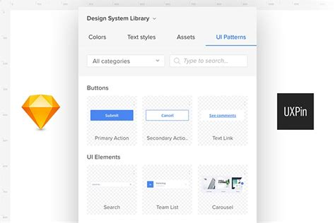 Uxpin Pattern Library | design systems by uxpin