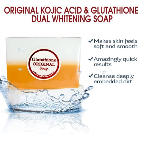 Glutathione Collagen Kojic Acid original kojic acid glutathione dual whitening soap with