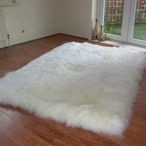 Sheepskin Mat by Rectangular Lined Sheepskin Rug 160x110cm