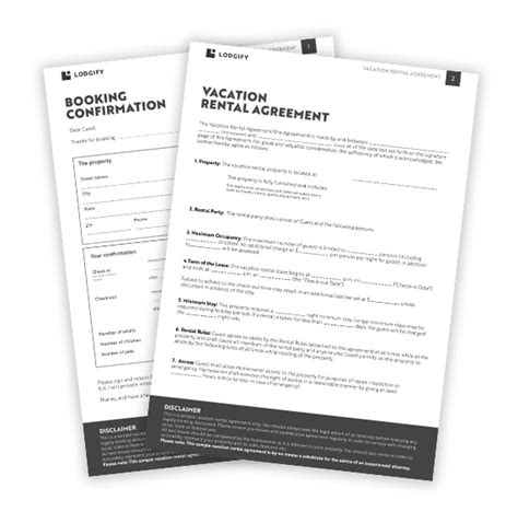 vacation rental agreement free vacation rental agreement template