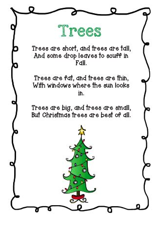 christmas tree songs for kids tree and santa s poems march tree theme poem elves and preschool songs