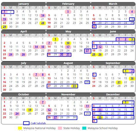Kalendar 2018 Sarawak Kalendar Cuti Sekolah 2017 Malaysia Xpresi