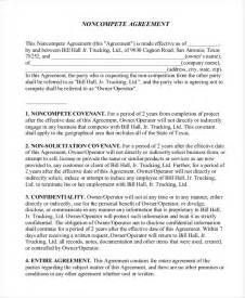 Non Competition Clause Template by Vendor Non Compete Agreement Template 8 Free Word Pdf