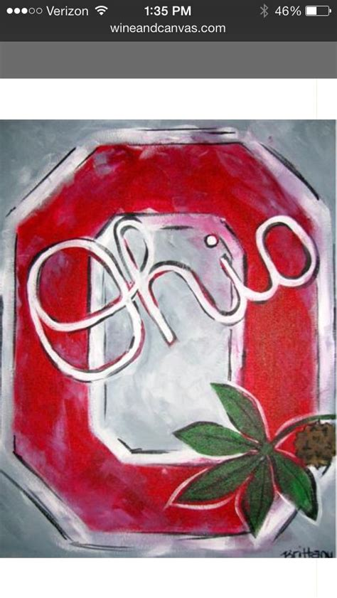 canvas osu block o painted at wine canvas columbus the ohio