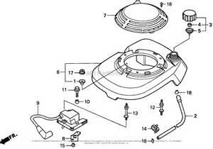 Honda Lawn Mower Engine Diagram Honda Hrm195 Pa Lawn Mower Usa Vin Mzbv 6000001 To Mzbv