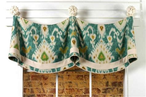 Claudine Curtain Valance Sewing Pattern mounted on knobs