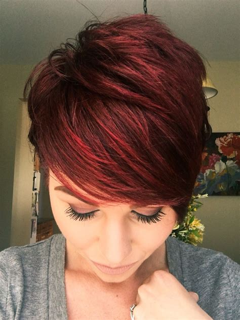 bob haircuts are ugly red violet pixie with copper tones kapsels 66 rood haar