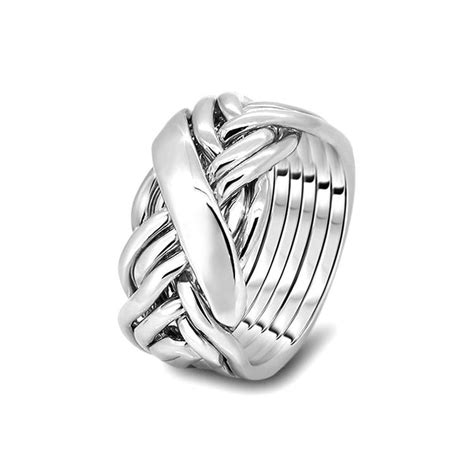 mens silver 7wrd m puzzle rings creations