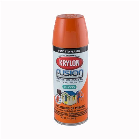 spray painting plastic krylon fusion for plastic gloss orange spray paint ace