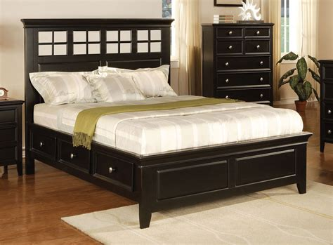queen size bed with storage del mar ebony queen size panel bed with storage by winners