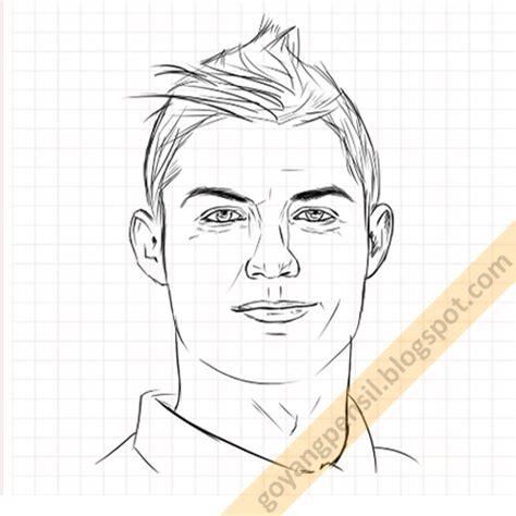 Pensil Alis Fifa cara menggambar sketsa cristiano ronaldo goyang pensil