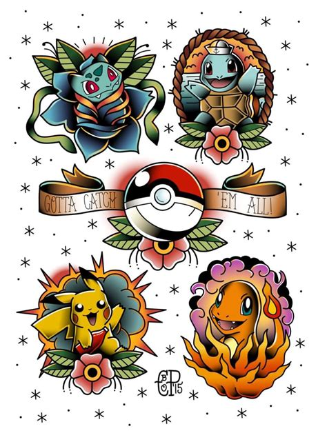 pokemon tattoo designs 40 best tattoos