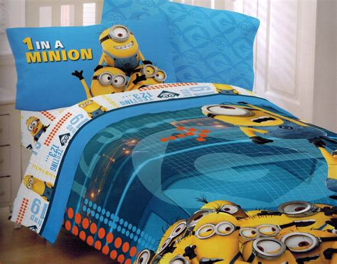 despicable me bed set despicable me 2 twin bed set minions at work groovy