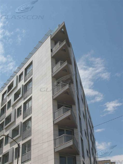 curtain wall residential residential office building sofia bulgaria glasscon