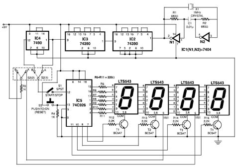 circuit design competition questions scoring display with 7 segment led schematic design