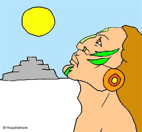 imagenes de mayas animados dibujo de guerrero orando pintado por mayas en dibujos net