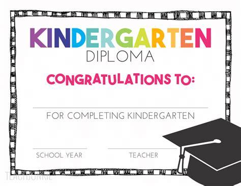 Pre K Certificates Printable