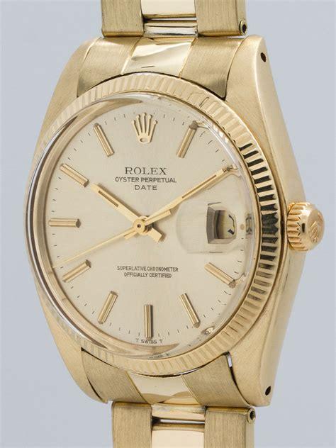 Rolex 14K YG Oyster Perpetual Date ref 1500 circa 1978