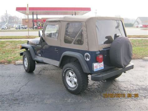 2000 Jeep Wrangler Se Find Used 2000 Jeep Wrangler Se Sport Utility 2 Door 2 5l