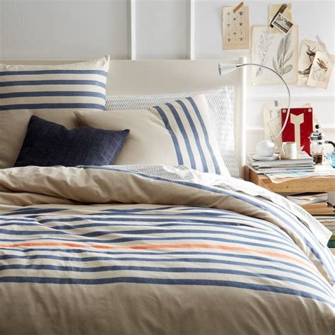 Duvet And Cover Playa Stripe Duvet Cover Contemporary Duvet Covers And