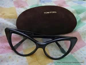 maisassygirl tom ford cat eye glasses