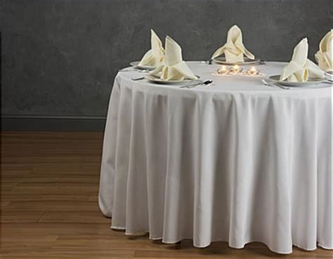 Dining Table Cloth Dining Table Cloth Ivory Linen With 108 Quot Diameter