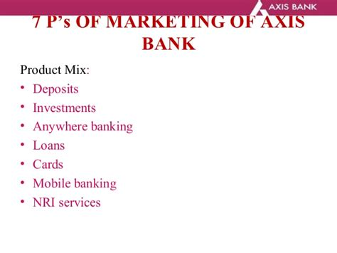 services of axis bank banking and finance